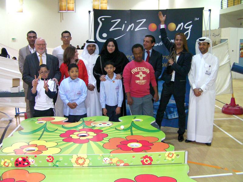 Zinzooong offre une table pour le Shafallah center